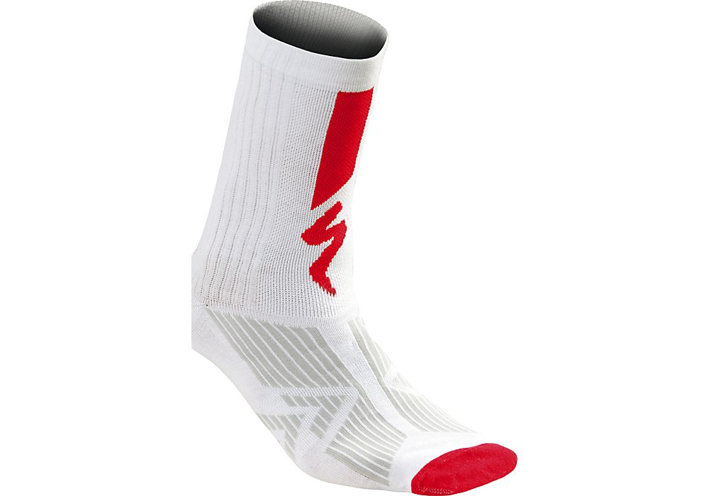 Specialized Socken SL Elite Summer Sock White/Red M