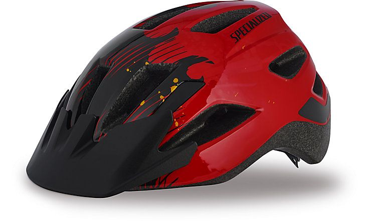 Specialized Kinderhelm Shuffle Child Red/Black Flames 50-55cm