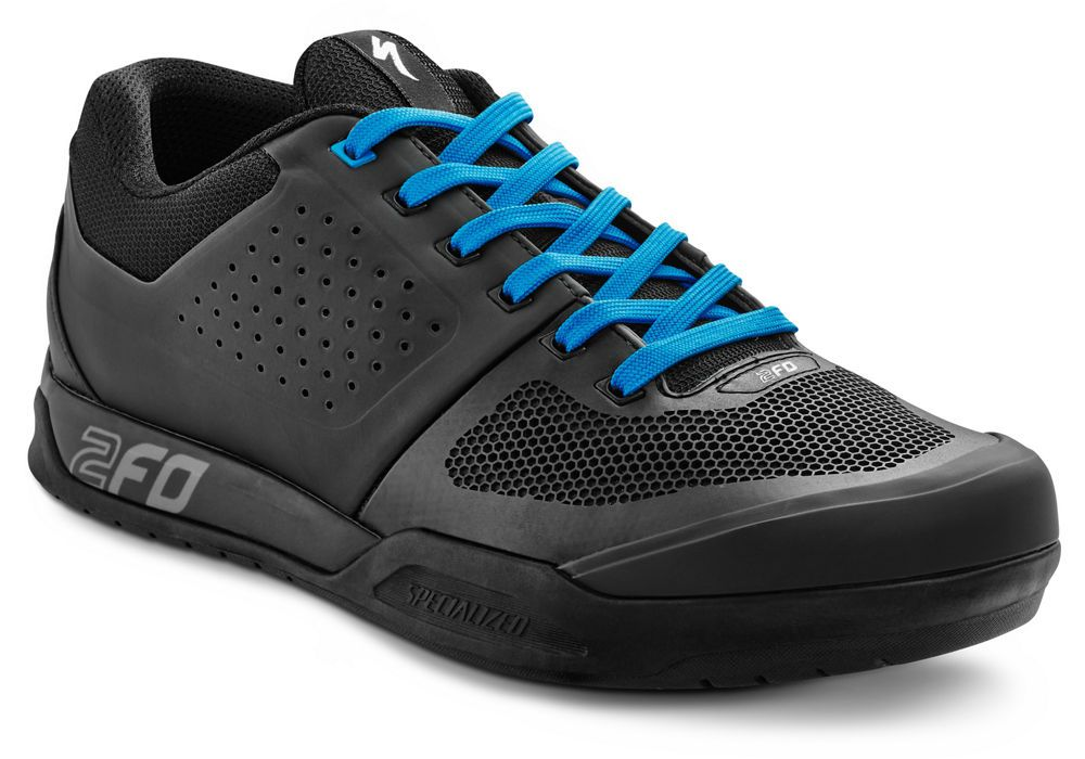Specialized Schuhe 2FO FLAT Black/Neon Blue 42.5