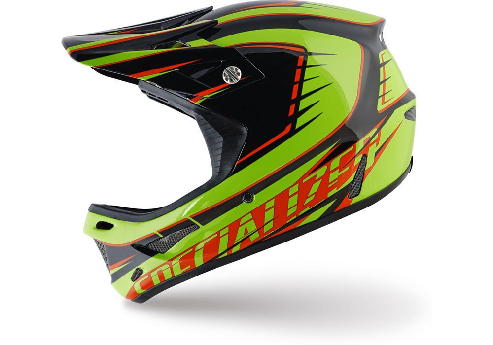 Specialized Helm Dissident comp Monster Green/Rocket Red Race 2016 L