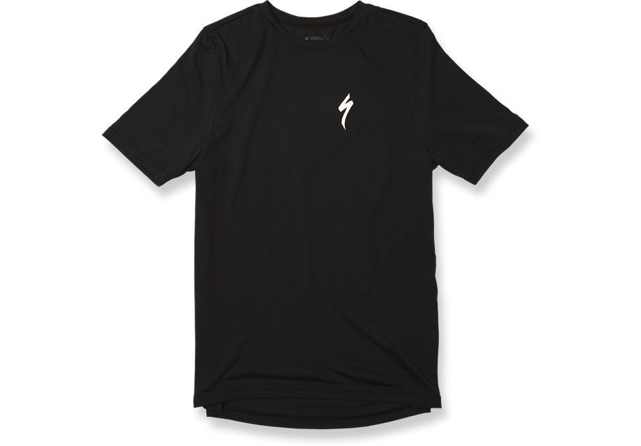 Specialized T-Shirt Drirelease S-Logo Black/White