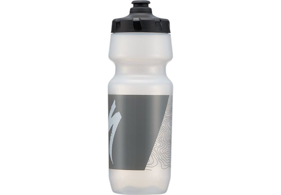 Specialized Trinkflasche Big Mouth Translucent/Grey Topo Block 0,6L / 24oz