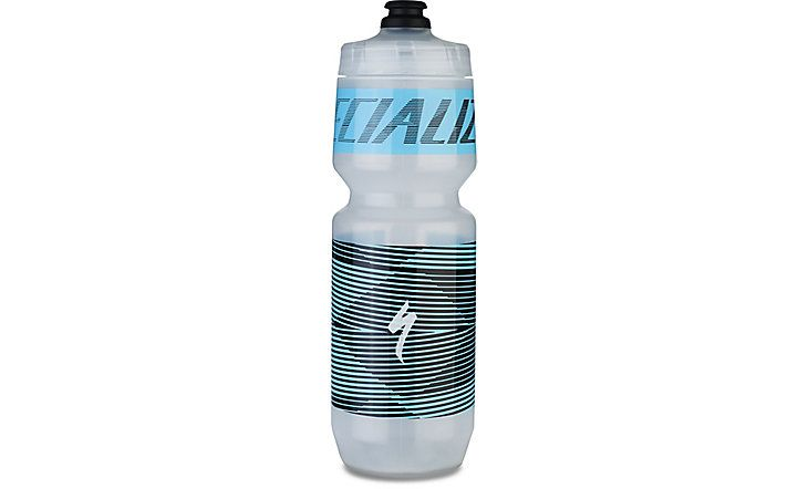 Specialized Trinkflasche Purist MoFlo 0,7L / 26 OZ  transparent Teal Vector Stripes