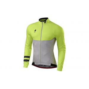 Specialized Langarmtrikot Therminal Long Sleeve Jersey Light Grey Heather/Neon Yellow
